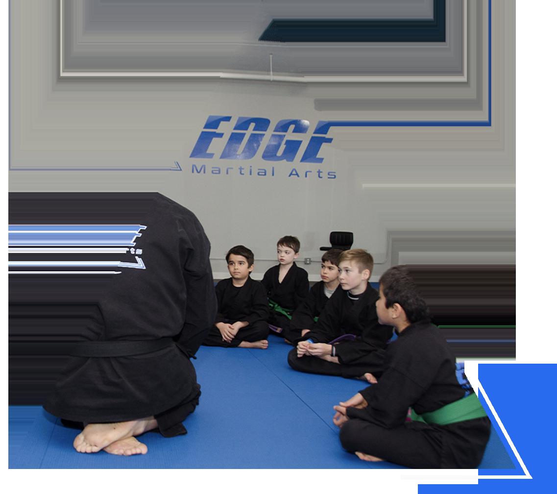 kids karate class at Edge Martial Arts
