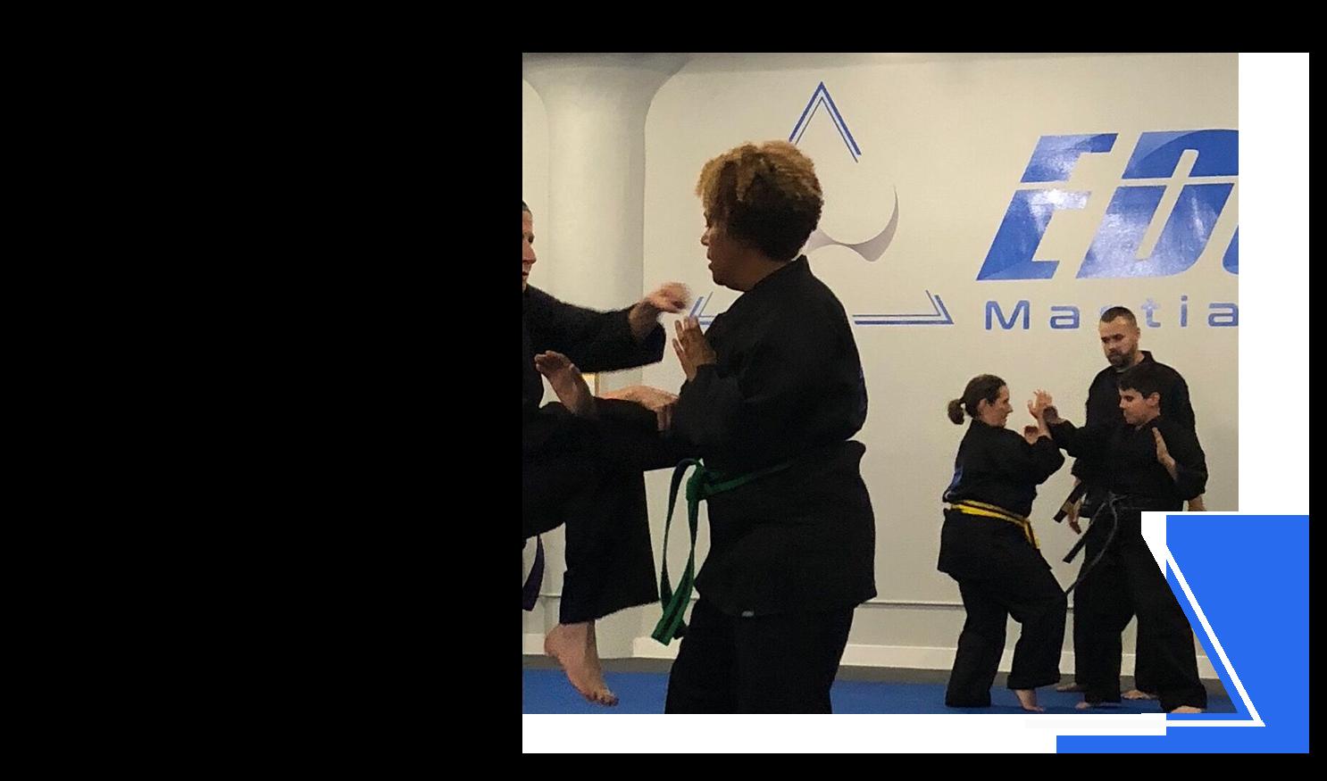 adult karate classes at Edge Martial Arts